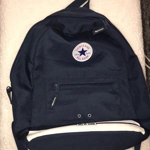 Navy blue converse backpack
